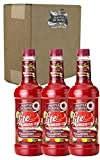 Master of Mixes Strawberry Daiquiri/Margarita Lite Drink Mix, Ready To Use, 1 Liter Bottle (33.8 Fl Oz), Pack of 3