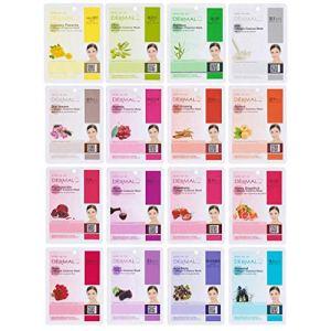 Dermal Korea Collagen Essence Full Face Facial Mask Sheets 10