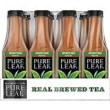 Pure Leaf Iced Tea, Unsweetened, Real Brewed Black Tea, 0 Calories, 18.5 Fl Oz, Pack of 12