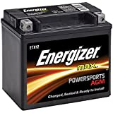 Energizer ETX12 AGM Motorcycle and ATV 12V Battery, 180 Cold Cranking Amps and 10 Ahr.  Replaces: YTX12-BS and others