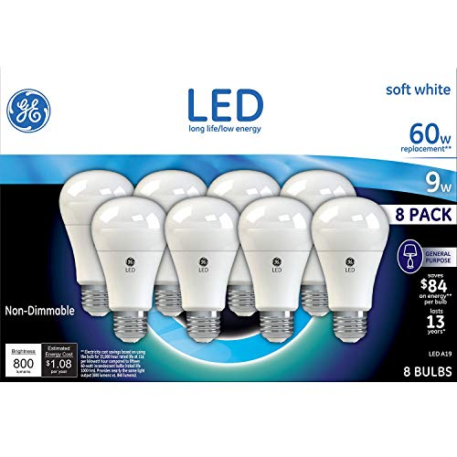 GE 60W Replacement Soft White LED 8 Pack
