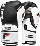 Fighting Sports S2 Gel Power Bag Gloves, Black/White, 16 oz