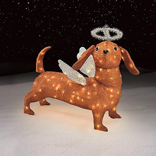 dachshund lighted insideoutside yard decor christmas angel dachshund yard decor - Lighted Christmas Angel Yard Decor