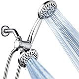 AquaDance Total Chrome Premium High Pressure 48-setting 3-Way Combo for The Best of Both Worlds - Enjoy Luxurious 6-setting Rain Shower Head and 6-Setting Hand Held Shower Separately or Together