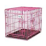 Aspen Pet Puppy 2-Door Training Retreat Crate, 24', Pink