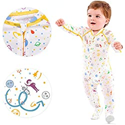 Eczema Sleepsuit for Babies - Itch Relief for Moderate to Severe Baby Eczema with No Scratch Mitts - Pajamas for Babies - Also - Used as Wet Wrap Suit
