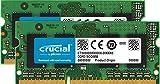 Crucial 16GB Kit (8GBx2) DDR3/DDR3L 1600 MT/S (PC3-12800) Unbuffered SODIMM 204-Pin Memory - CT2KIT102464BF160B