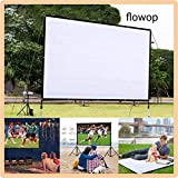 flowop Projector Screen, 160HD Portable,Foldable Anti-Crease for Home Theater Indoor Outdoor Projector Movie Screen 4:3, 472.4 x 354.3inch