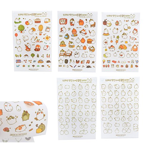 We-buys Cute Cats Stickers Transparent Diary Scrapbooking Labels Decorative Tags 80 Pcs