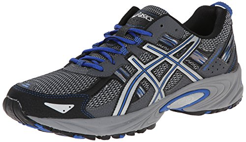 ASICS Men's Gel Venture 5 Running Shoe, Silver/Light Grey/Royal, 11 M US
