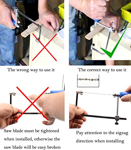 Art Frame Making Tools and Jeweler\'s Saw Frame Adjustable with 16 ...