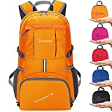 ZOMAKE Ultra Lightweight Hiking Backpack, 35L Packable Water Resistant Travel Backpack Foldable Daypack Outdoor Camping(Orange)