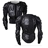 Motorcycle Full Body Armor Protector Pro Street Motocross ATV Guard Shirt Jacket with Back Protection Black XL