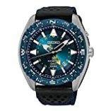 Seiko SUN059 Men's Prospex Kinetic GMT Stainless Nylon/Leather Band Blue Dial Watch