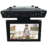 Sylvania SKCR2706BT 10.2' Under Cabinet Kitchen TV with Built in DVD Player & HDMI, Bluetooth