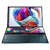 ASUS ZenBook Pro Duo UX581 Intel Core i9 9th Gen 15.6' 4K UHD OLED Touchscreen Laptop (32GB RAM/1TB NVMe SSD/Windows 10/6GB GDDR6 Graphics Card/ScreenPad Plus/Celestial Blue/2.50 Kg), UX581GV-H9201T