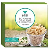 Medi-Weightloss Sour Cream & Herb Zippers Protein Snacks - High Protein (10g) - 100 Calories - 7 Packs Per Box