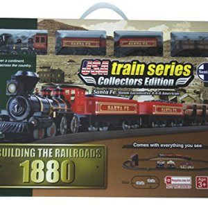 LEC USA 1880 Santa Fe Steam Locomotive 4-4-0 American Battery Operated Train Set 51KDE6raFPL