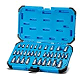 Capri Tools CP30004 30004 S2 Star Torx And External Socket Bit Set 35-Piece, Silver
