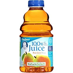 Gerber Nature Select Baby 100% Fruit Juice 32 Fl Oz (Pack of 2) (100% Pear Juice)