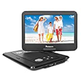 NAVISKAUTO 14 inch HD Portable DVD/CD Player USB/SD Reader with HD 1366x768 Digital TFT 270¡ã Swivel Screen, 5-Hour Built-in Rechargeable Battery, Remote Control and Carrying Case-Black (14 inches)