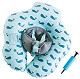 Emma + Ollie Baby Inflatable Baby Swimming Float Ring, Round Swim Float, Children Waist Float Ring Inflatable Floats Pool Toys Swimming Pool Accessories for the Age of 3 months- 3 Years (Blue Whale, L