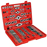 Zoostliss 110 Piece Bearing Steel Tap and Die Set Tungsten Steel Titanium Sae and Metric Tools