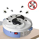 Allytech Electric Fly Trap Device, Creative Automatic Silent Fly Catcher Killer Device for Indoor Outdoor Kitchen Home