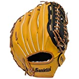 Franklin Sports Baseball Glove - Left and Right Handed Baseball and Softball Fielding Glove - Synthetic Leather Field Master Baseball Glove - 12 Inch Right Hand Throw