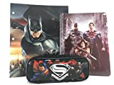 Batman v Superman Pencil Holder, Note Pad & School Folder Set (STYLE MAY VARY)