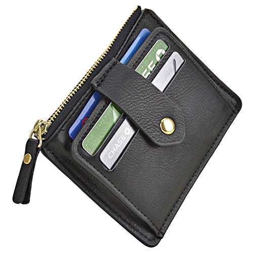 Minimalist Slim Snap Button Front Back Pocket Money Wallet Small Credit Card Holder