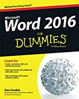 The bestselling beginner's guide to Microsoft Word Written by the author of the first-ever For Dummies book, Dan Gookin, this new edition of Word For Dummies quickly and painlessly gets you up to speed on mastering the world's number-one word process...