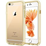 JETech Case for Apple iPhone 6 and iPhone 6s, Shock-Absorption Bumper Cover, Anti-Scratch Clear Back (Gold)