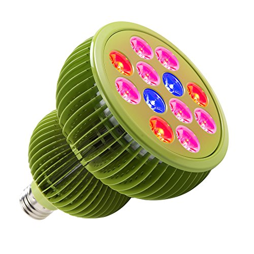 TaoTronics LED Grow Lights Bulb, Grow Lights for Indoor Plants,Plant Lights,Grow Lamp for Hydroponics,Organic Soil,Applicable to Grow Banana,Lemon etc.(36W,3 Bands,E26 Socket)