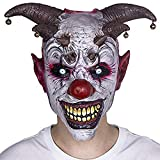 XIAO MO GU Halloween Clown Mask Jingle Jangle Scary Clown Mask Halloween Party Costume Decorations