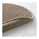 Ikea Beige Tan Supersoft Bath Shower Mat Rug Bathtub Bathroom Floor Round