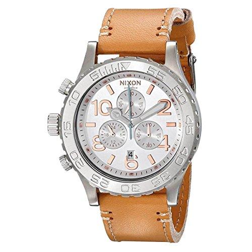 Nixon Women's A4241603 42-20 Chronograph Leather Watch