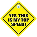 DRIVING iwantthatsign.com Yes This Is My Top Speed Car Sign, Yes This Is My Top Speed, Bad Driver Sign, Bumper Sticker, Decal, Anti Tailgater Car Sign, Decals, Joke Car Sign, Tailager, Back Off