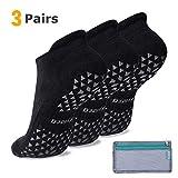 Grip Socks for Pilates, Hospital, Barre, Non Slip Yoga Socks for Women & Men, Ankle Cut, Cushioned, Anti skid, Home Slipper Socks