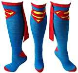 SuperGirl Costume Cape Socks