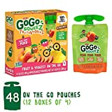 GoGo squeeZ Fruit & VeggieZ on the Go, Apple Peach Sweet Potato, 3.2 Ounce (Pack of 48), Gluten Free, Vegan Friendly, Healthy Snacks, Unsweetened, Recloseable, BPA Free Pouches