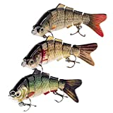YL OUTDOOR Fishing Lures for Bass 3.9' 0.74oz Multi Jointed Swimbaits Slow Sinking Hard Baits Fishing Tackle Kits