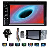 Double 2Din Car Stereo with Backup Cam 6.2' Touchscreen, for Ford F150 F250 F350 F450 F550 2004-2016, Support Bluetooth Mirrorlink AM FM Subwoofer Steering Wheel Control Aux-In