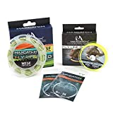 M MAXIMUMCATCH Maxcatch Fly Line Combo Pack: ECO Floating Fly Line, Backing, and Tapered Leader (Moss Green, WF7F)