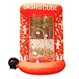 Inflatable Cash Cube Booth for Advertisment, Inflatable Money Grab Machine for Event (No Blower Included) (Orange)