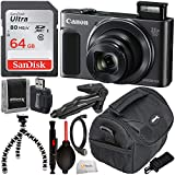 Canon PowerShot SX620 HS Digital Camera (Black) with Essential Accessory Bundle - Includes: SanDisk Ultra 64GB SDXC Memory Card, Pistol Grip/Tabletop Tripod, Carrying Case & Much More