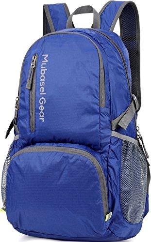 Mubasel Gear Backpack - Lightweight Backpacks for Travel Hiking - Daypack for Women Men (Black)