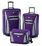 American Tourister Luggage Fieldbrook Ii 3 Pc Set, Purple/Grey