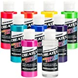 Iridescent 8 Createx Airbrush Paint Colors Set 2 Oz Bottles
