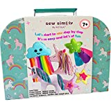 Sewing KIT for Kids, DIY Craft for Girls, The Most Wide-Ranging Kids Sewing Kit Kids Sewing Supplies, Includes a Booklet of Cutting Stencil Shapes for The First Step in Sewing. (Unicorn kit)